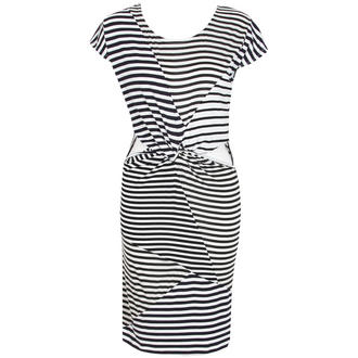 View Item Striped Twist Mini Dress with Cut Out Detail